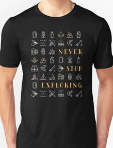 Never Stop Exploring T-Shirt