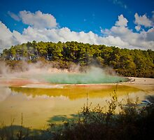 Wai-ta-pu Hot springs by Anthony Surace