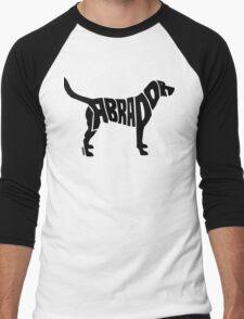 Labrador Black Men's Baseball ¾ T-Shirt