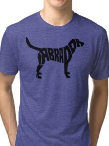 Labrador Black Tri-blend T-Shirt