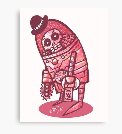 Mad Spaceman Series: Pink Slip Canvas Print