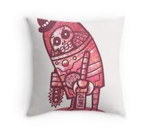Mad Spaceman Series: Pink Slip Throw Pillow