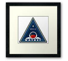 Ares 3 - Watney emblem Framed Print