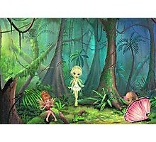 Forest Fairy Trio Photographic Print