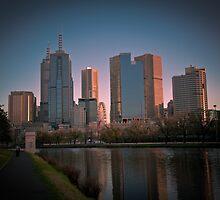 Melbourne Skyline by Anthony Surace