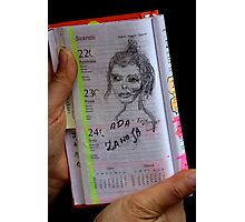 Hello !  hello friends !!!!  Exclusive Art Event. My first drawing ....EvitaKittyCat - Ada .by Brown Sugar . Views (50) favorited by (2) thx!!!! Photographic Print