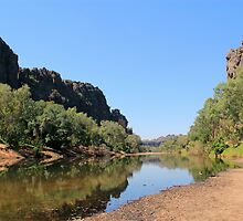 view into windjana gorge  by nicole makarenco