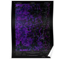 USGS Topo Map Oregon Monroe 282727 1957 62500 Inverted Poster