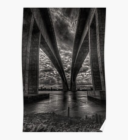 Concrete arches  -  troubled sky Poster