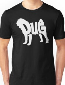 Pug White Unisex T-Shirt