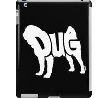 Pug White iPad Case/Skin
