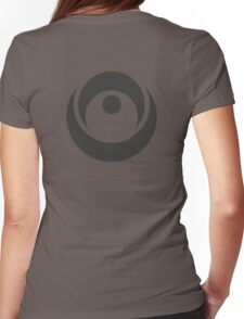 Spiky Circle Symbol Womens Fitted T-Shirt