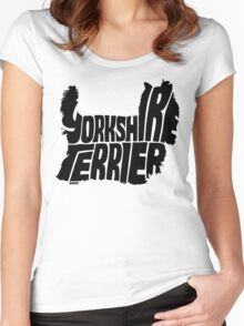 Yorkshire Terrier Black Women's Fitted Scoop T-Shirt