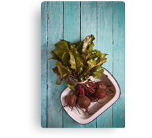 Beetroot in an enamel dish Canvas Print