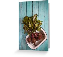Beetroot in an enamel dish Greeting Card