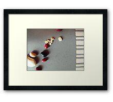 a scattering Framed Print