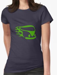 Green Camper Womens Fitted T-Shirt