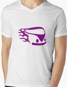 Purple van Mens V-Neck T-Shirt