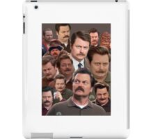 Ron Swanson Tile iPad Case/Skin