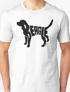 Beagle Black Unisex T-Shirt
