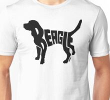 Beagle Black Unisex T-Shirt