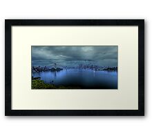 A City Under Siege Framed Print
