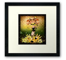 Faerie Bumble Framed Print