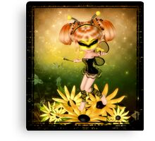 Faerie Bumble Canvas Print