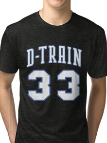 The D-Train - Wildcat Blue Tri-blend T-Shirt