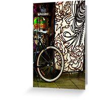 One wheel with graffiti  Greeting Card