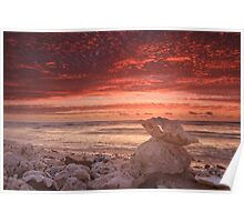 Clam shell sunset, Quobba Poster