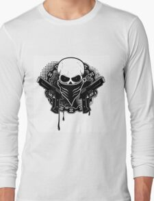 Skull with guns Long Sleeve T-Shirt