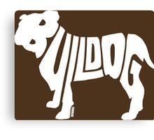 Bulldog White Canvas Print