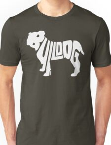 Bulldog White Unisex T-Shirt