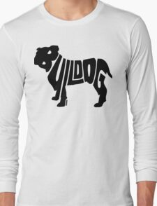 Bulldog Black Long Sleeve T-Shirt