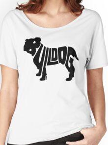 Bulldog Black Women's Relaxed Fit T-Shirt