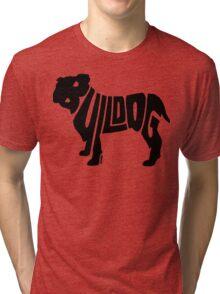 Bulldog Black Tri-blend T-Shirt