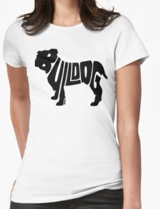 Bulldog Black Womens Fitted T-Shirt