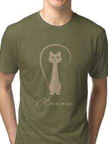 Meow Cat Tri-blend T-Shirt