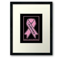 I Survived Breast Cancer -- Breast Cancer Awareness Framed Print