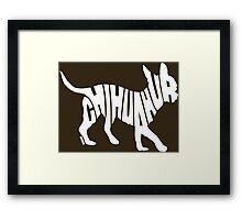Chihuahua White Framed Print