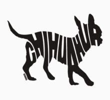 Chihuahua Black Kids Tee