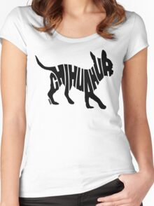 Chihuahua Black Women's Fitted Scoop T-Shirt