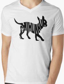 Chihuahua Black Mens V-Neck T-Shirt
