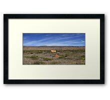 Outback Caravan, Exmouth, Western Australia Framed Print