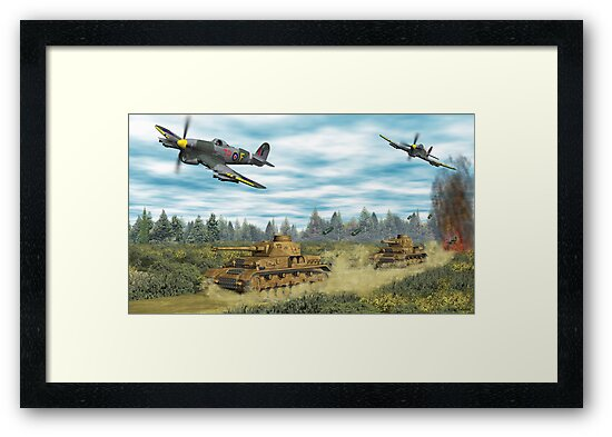 Hawker Typhoon Tank Busters by Walter Colvin