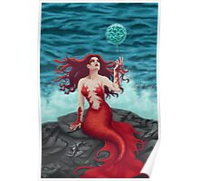 Mermaid and Water Orb Poster