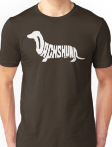 Dachshund White Unisex T-Shirt