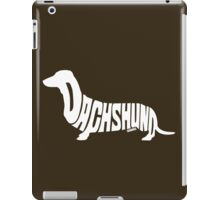 Dachshund White iPad Case/Skin