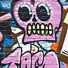 Pink Graffiti Skull by yurix